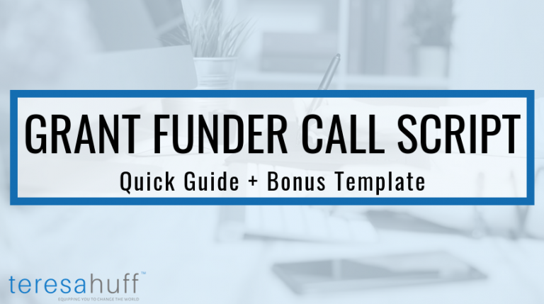 How to call a grant funder - Teresa Huff, Grant Writing Simplified Podcast