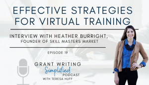 Heather Burright, Skill Masters Market - Virtual Training Tips