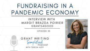 How to thrive in a pandemic - Nonprofit and grant writer tips - Grant Writing Simplified, Teresa Huff