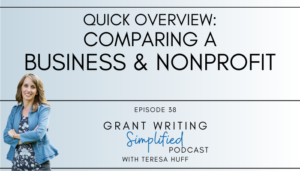 Business or Nonprofit - Teresa Huff, Grant Writing Simplified Podcast